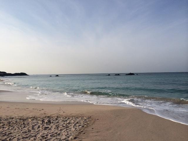 角島の海岸。冬の海もいいですね。