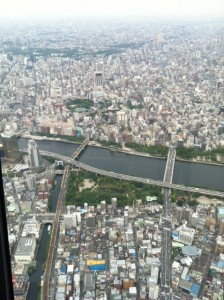 東京スカイツリー展望デッキからの風景