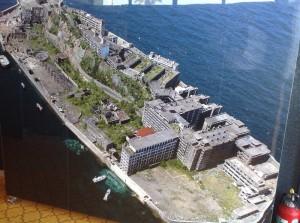 資料館にあった軍艦島の写真です