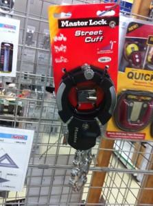 バイクやトラクターの盗難防止の器具