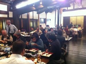 展示会・フェアの前に博多百年蔵で食事