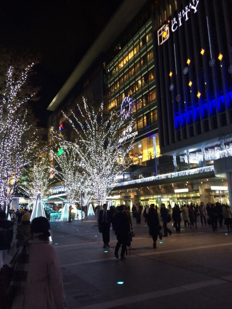 博多駅 駅ビル イルミネーション
