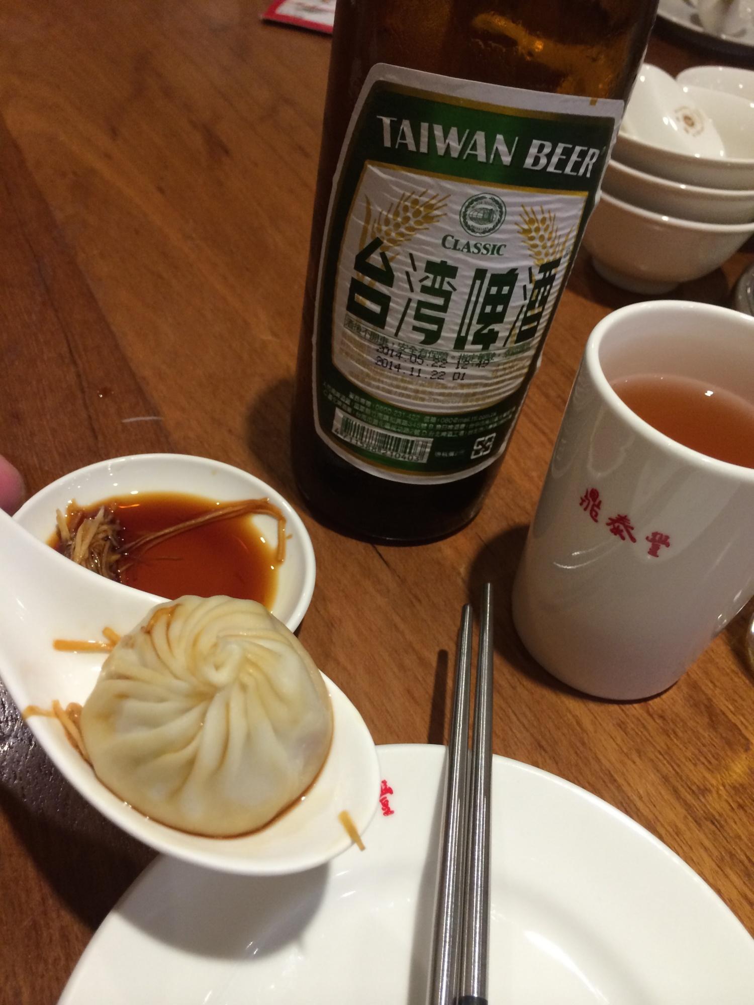 台湾ビールとの相性ぴったり鼎泰豊!