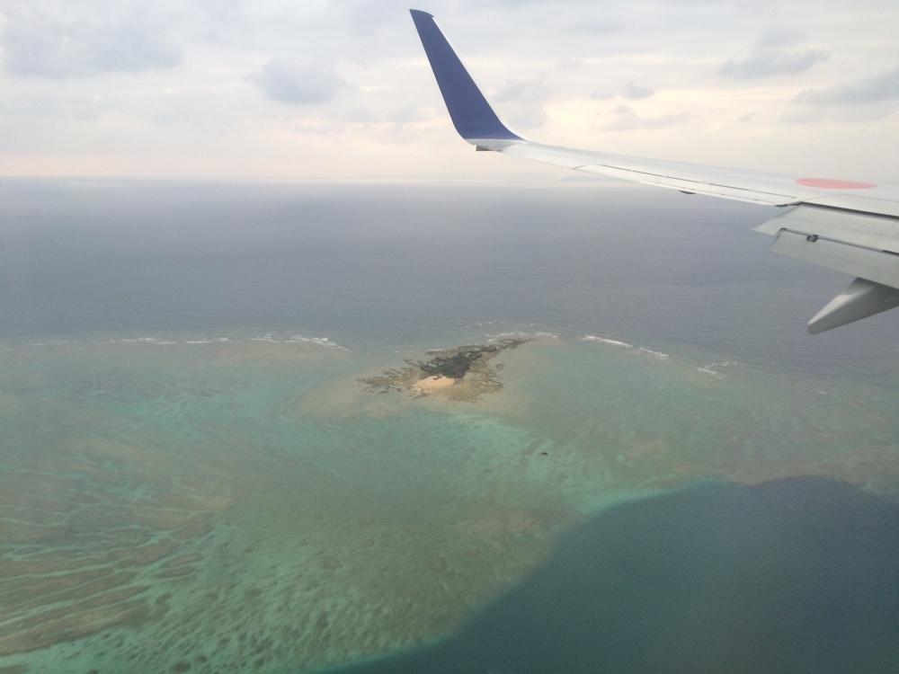 飛行機で大分から沖縄へ