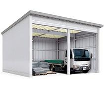 イナバ物置のイナバ倉庫はトラックも入る