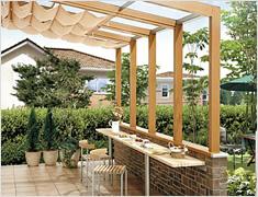 ガーデンルーム(エクステリア) ココマ オープンテラス腰壁タイプ
