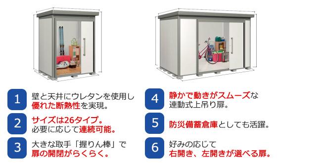 ヨド物置 ヨド蔵MD 耐熱性に優れた物置 連動式上吊り扉