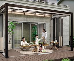 エクステリア ガーデンルームのZima 自然浴家族