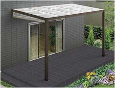 エクステリア・ガーデンルームの自然浴家族 Zimaのテラス