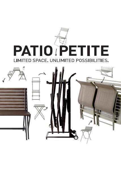 コンパクトなガーデン二チャー『PATIO PETITE』