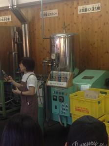 ラムネ・醤油を作っている工場の原次郎左衛門さんへ