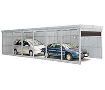 イナバ物置 奥行き延長ガレージで縦列駐車