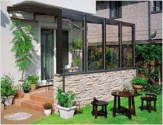 ガーデンルーム(エクステリア) ココマ サイドスルー腰壁タイプ