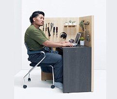 約1平米の半個室空間を作れる 組み立て簡単デスク「KOMORU(コモル)」