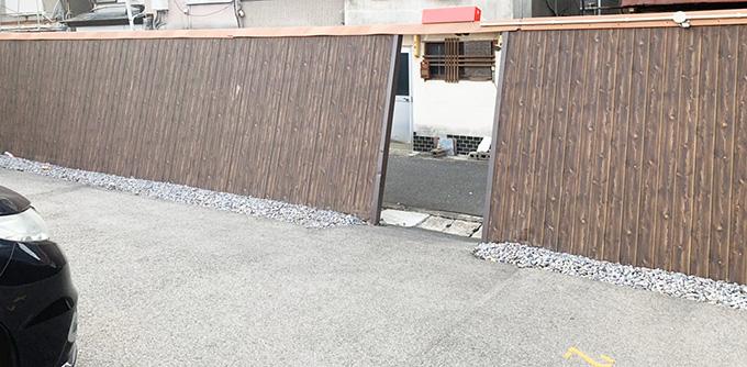 駐車場フェンス工事