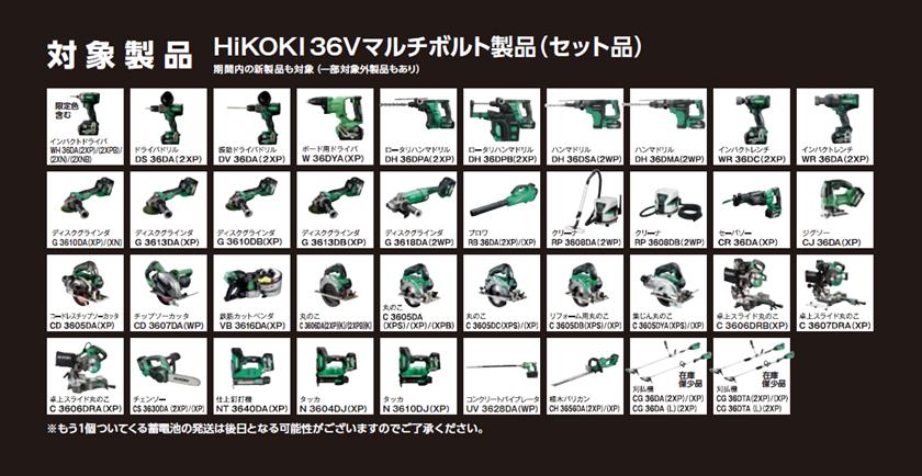 36V/18Vも使える「マルチボルト電池」シリーズ新製品が続々登場中‼