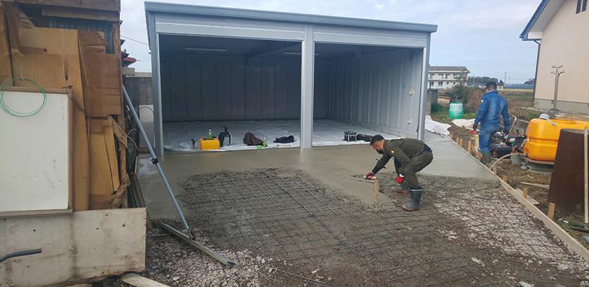 ガレージ土間工事